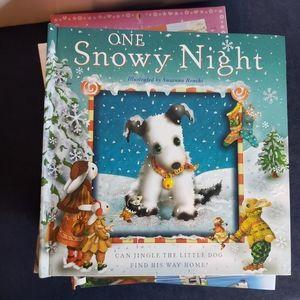One snowy night children's story book